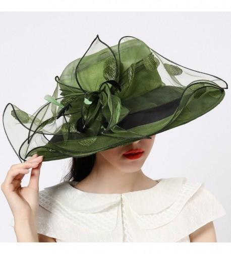Junes Organza Ruffles Feathers Blackish in Women's Sun Hats