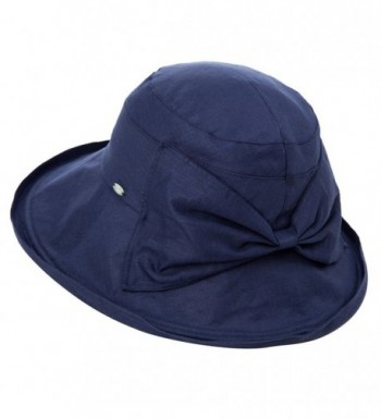 Siggi Womens UPF50+ Summer Sunhat Bucket Packable Wide Brim Hats w/ Chin Cord - 89308_navy - CS17YE7R8UK