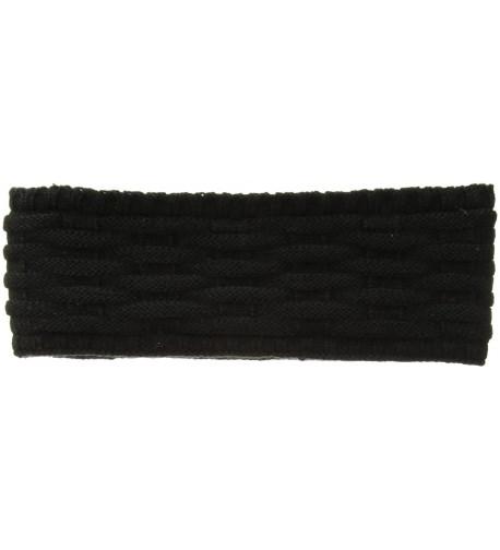 Echo Women's Cross Cable Stitch Headband - Black - CW1820CIHX6