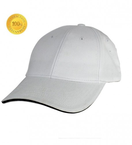 YEYIMEI Baseball Cap Unisex Cotton Cap Trucker Hat White Cap Sun Hat Adjustable Cap For Men- Women - White - CM182KSI5YN