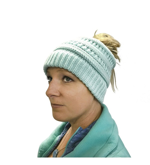 39f62fa57a978d Critical One Messy Beanie Women - Turquoise - CI1805UUO98