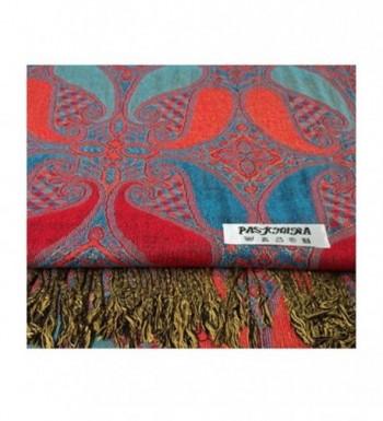 Paskmlna Paisley Pattern Layered Pashmina