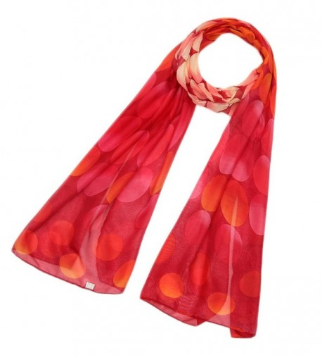 Fashion Gradient Ccolor Sheer Voile Shawl 16050CM Women Scarf for Clothes Decorating - Red - CQ17AAUIDI3