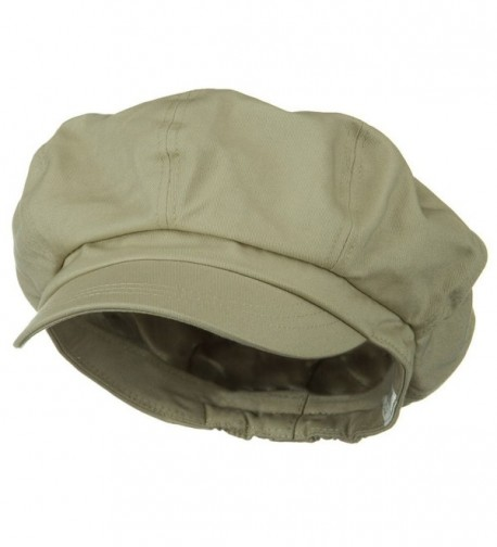 Big Size Cotton Newsboy Hat - Khaki (For Big Head) - CU1172V52HN
