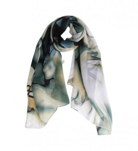 Perman Fashion Women's Long Wrap Women's Shawl Chiffon Scarf Scarves - Blue - CL12MLQZVIX