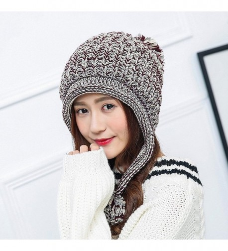 62354c926fd HUAMULAN Winter Beanie Layered Pompoms in Women s Skullies   Beanies. prev