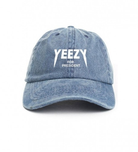 Yeezy For President Denim Unstructured Hat - CS12O1BBALY
