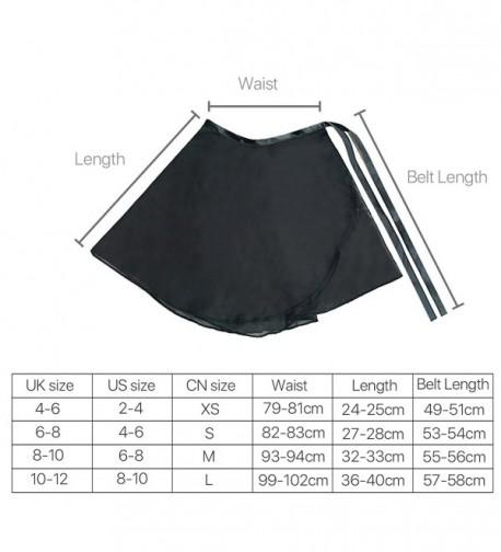 H88 - Women Chiffon Ballet Skirt Dance Skate Wrap Over Scarf Dress Size M - Black - C3124J3YF33