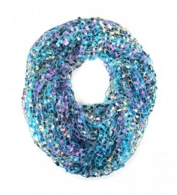Crochet Confetti Infinity Loop Scarf - Blue - C61832OX5HE