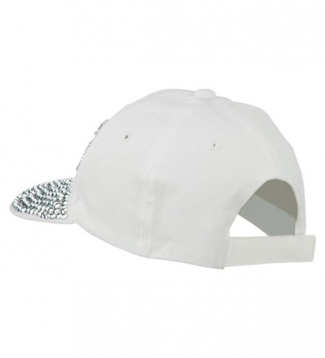 Boss Stones Jewel Cap White