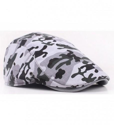 Qunson Unisex Camouflage Cotton Newsboy