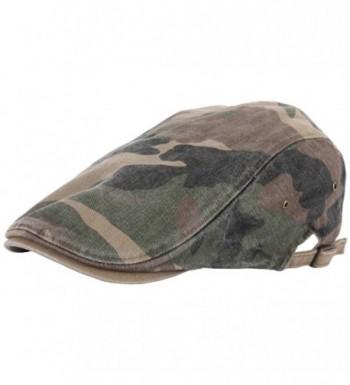 RaOn N11 New Vintage Feel Gatsby Army Fabric Camo Military IVY Cap Cabbie newsboy Hat - Green - CW129DH5WEV
