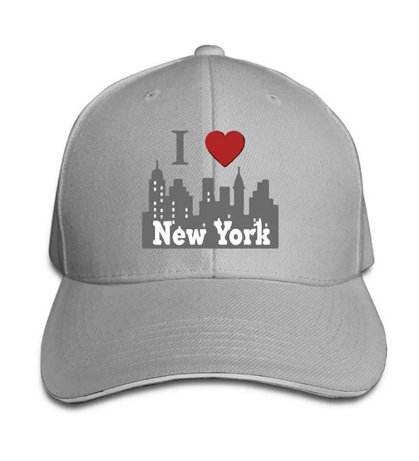 I Love New York NY Skyline Unisex Breathable Slouchy Beanie - Ash - CA17YIO5L26