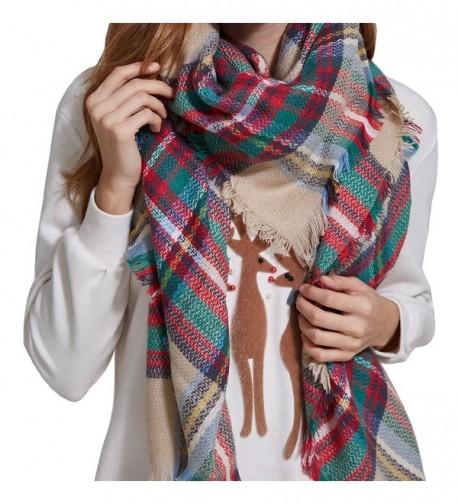 HEYMA Plaid Blanket Scarf Tartan Stylish Scraf For Women Winter Scarf Shawl - Scarf One - C21880RWRSN