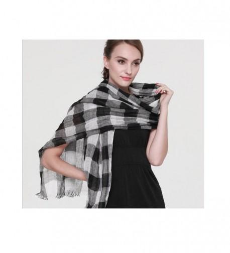 ZORJAR Linen Checks Sarong Scarves