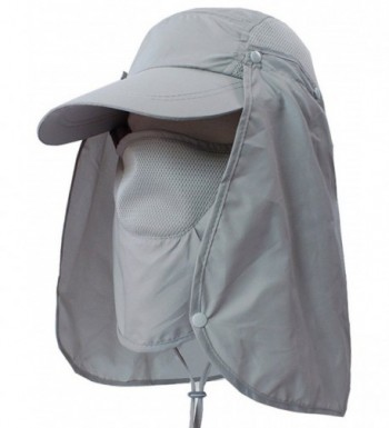 Sawadikaa Outdoor Mask Hat With Head Net Mesh Face Protection Sun Flap Cpas - Light Grey - CQ183IGRAI5
