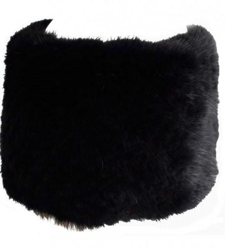 Valpeak Womens Winter Headbands Real Knitted Mink Fur Earmuff Hat Strong Elasticity - Black - C5128S1UD3D
