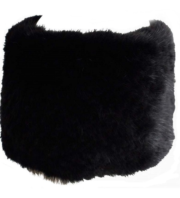dfd6bdbb Valpeak Womens Winter Headbands Real Knitted Mink Fur Earmuff Hat Strong  Elasticity - Black - C5128S1UD3D