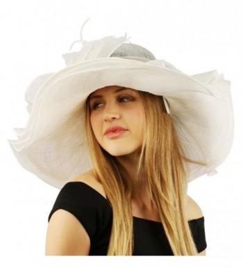 Summer Kentucky Layers Feathers Hat in Women's Sun Hats
