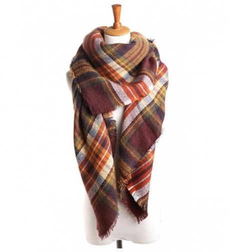 Zando Winter Blanket Oversized Scarves - Coffee Scarves for Women - CJ187I4K8EN