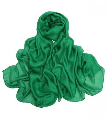 Women Scarf Super Soft Scarves Large Shawl Wrap by Bonnenult - Green - C1189L8T6KS