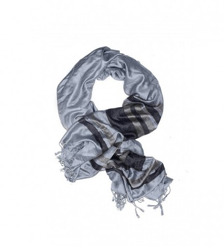 Ladies Pashmina Shawl Striped Scarf Wrap With Fringe Fashion Scarves For Women - CF12NG5P6ME
