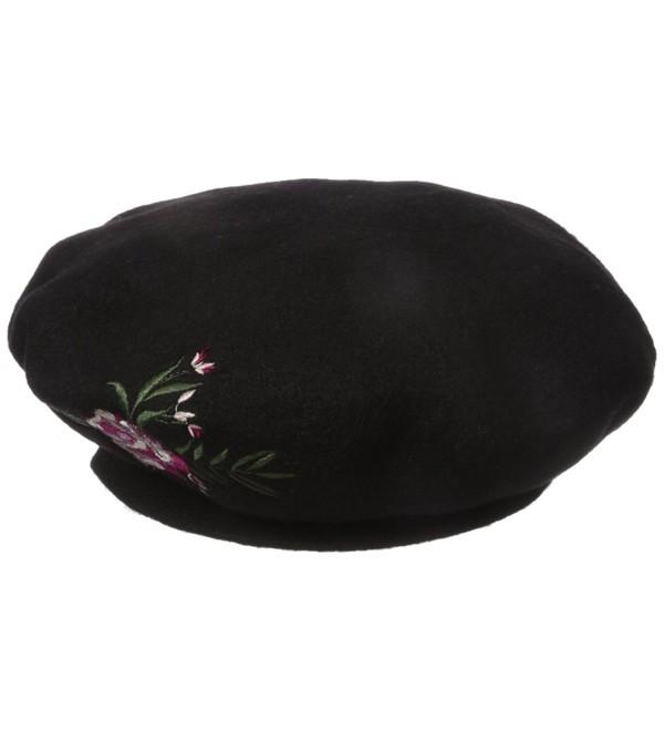 BCBGeneration Women's Floral Beret - Black - C8183XNE46E