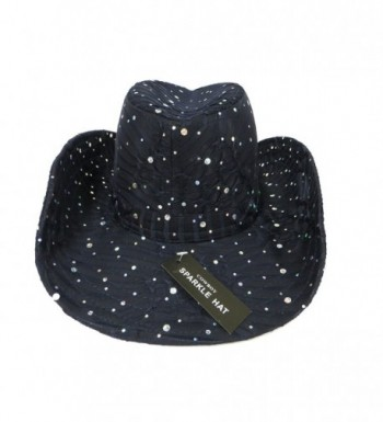 Glitter Sparkle Western Hats Black in Women's Cowboy Hats