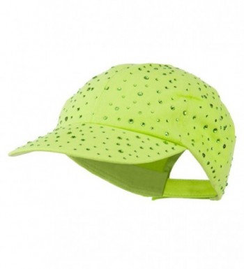 Bejeweled Glitter Baseball Cap - Lime - CN11VSYDKXD