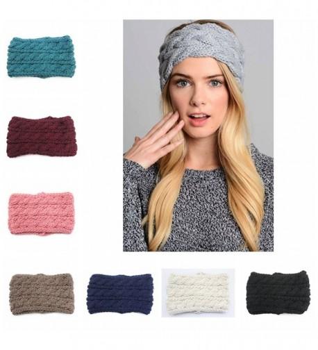 efd8c2010e9 Women Knitting Wool Crochet Headband Winter Ear Warm Headwrap Hair ...