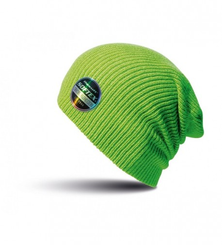Result Winter Essentials Core Softex Beanie Hat - Lime - CO12MAO5JUP