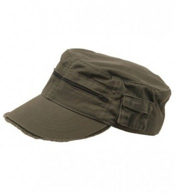 Zippered Enzyme Army Cap - Olive - CH111QRJ59P