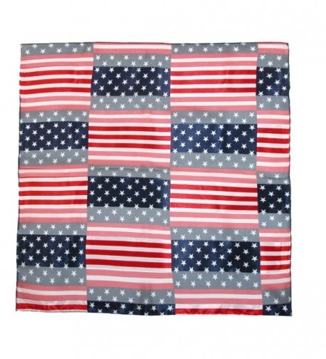 CTM Womens Stripes American Square in Fashion Scarves