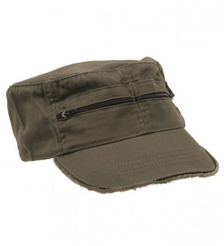 MG Zippered Enzyme Army Cap Olive