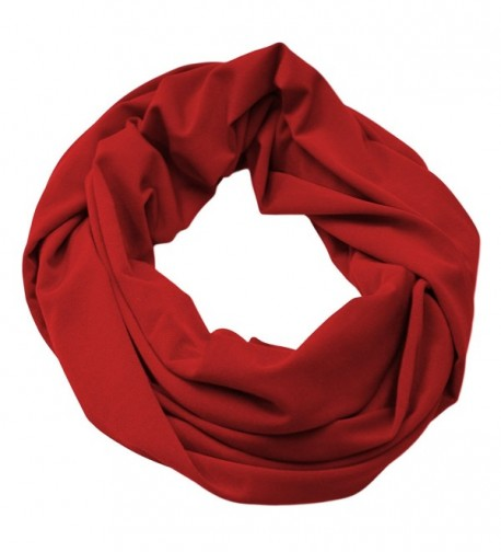 Infinity Scarf Soft & Silky Cowl Loop 2 Sizes Many Colors Women's Fashion Accessory Made in the USA - Burgundy - CI189RWEQ6O