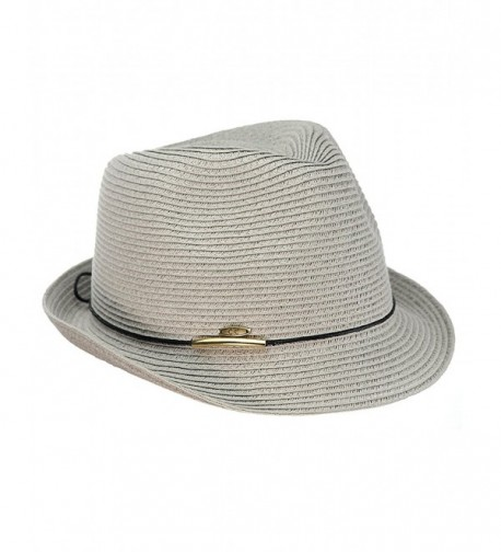 NYFASHION101 Spring Summer Gold Tone Stingy in Women's Fedoras