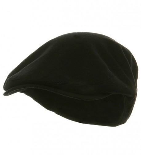 Big Size Elastic Wool Ivy Cap - Black W07S38B - C7113HAJPHZ