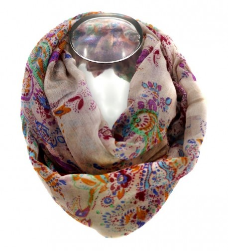 Meelyn Fashion Printing Lightweight Infinity in Fashion Scarves