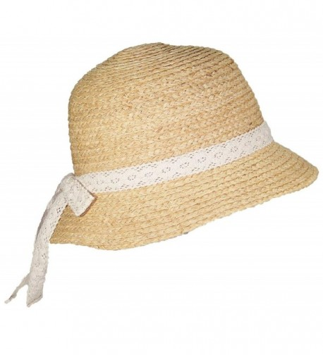 Victoria Natural Raffia Womens Cloche