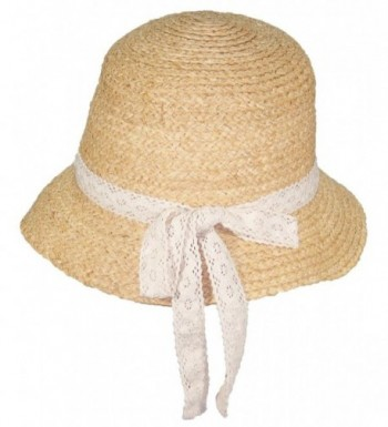 Victoria Natural Raffia Womens Cloche in Women's Sun Hats