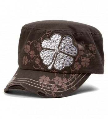 TopHeadwear Four Clover Distressed Cadet