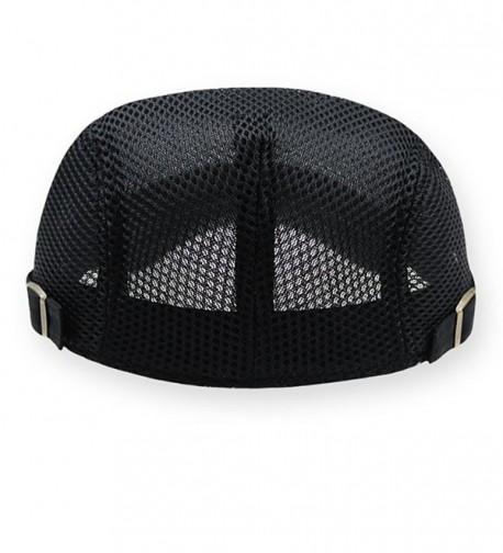 62a90058 2 Pack Men Breathable mesh Summer hat Newsboy Beret Ivy Cap Cabbie ...