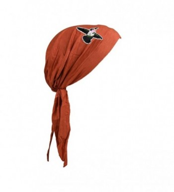 Landana Headscarves Pretied Headscarf Chemo Cap Modesty Scarf With Hummingbird - Rust - CY183CY7O5H