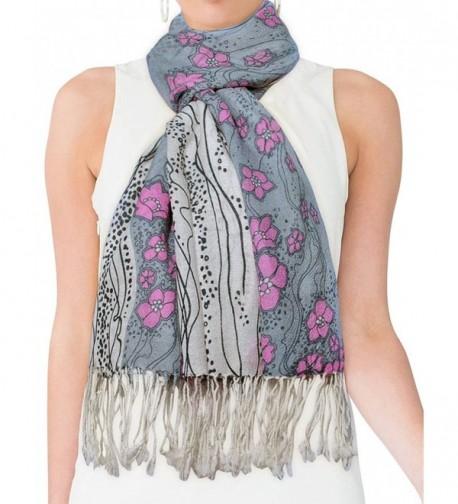 Dahlia Womens Merino Pashmina Scarf in Fashion Scarves