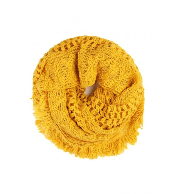 MYS Collection Soft Winter Infinity Scarf (Mustard) - C3186NRQH0R