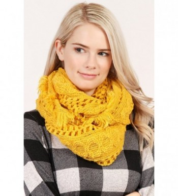 MYS Collection Winter Infinity Mustard in Cold Weather Scarves & Wraps