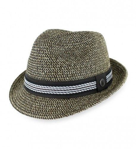 Hats in the Belfry Belfry Luz Men's Packable Paper Braid Fedora In Multi-Colored Natural - CY11YJFBBJX