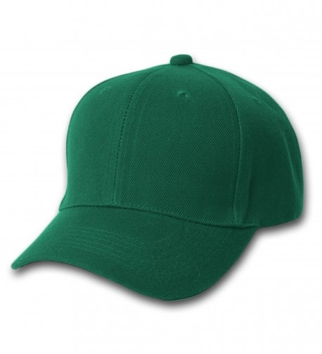 TOP HEADWEAR TopHeadwear Structured Poly Low Profile Adjustable Hat - Dark Green - C9180IGK8KH