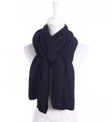 beb4a262cb1 Soft Winter Scarves Warm Knit Scarves for Outdoor Knitted Womens ...