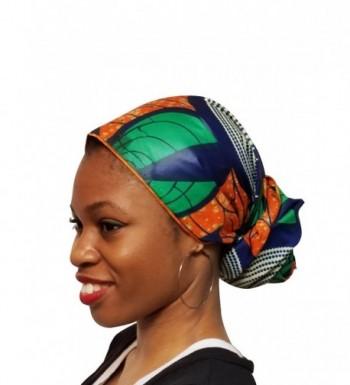 Orange Green African Ankara Multicolor in Fashion Scarves